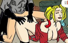 Alequina Trepando com Batman